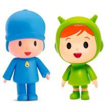 Kit com 2 bonecos de vinil da linha pocoyo e nina - Cardoso Toys