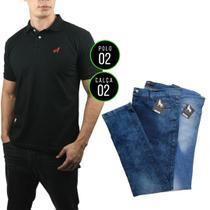 Kit com 2 Camisas Polo + 2 Calças jeans Vira Lata - Vira Lata Wear