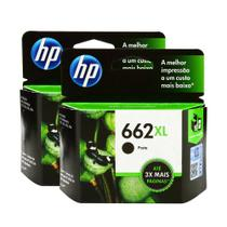 Kit Com 2 Cartuchos Hp 662xl Preto