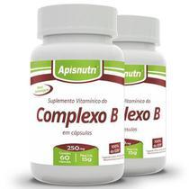 Kit com 2 Complexo B de 60 Cápsulas da Apisnutri -