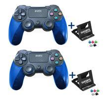 Kit com 2 Controle Sem fio Compatível Para Ps4 Video game + Suporte Celular - Foyu