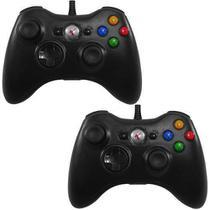Kit Com 2 Controles Para Xbox 360 / Pc 2 Em 1 - Entrada Usb - Knup