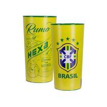 Kit com 2 Copos Oficiais Colecionáveis Brasil CBF Copa do Mundo 2018 Amarelo - Ml sports