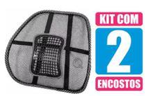 Kit com 2 Encosto Apoio Lombar Ergonômico Postural Cadeira Banco Carro - Supermedy