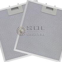 Kit com 2 Filtros Metálicos para Depuradores Electrolux DE60B e DE60X -