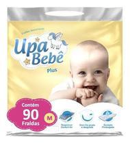Kit com 2 Fralda Descartável Infantil Upa Bebê M Plus -