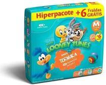 Kit Com 2 Fralda Looney Tunes Atacado Barato M Com 140 Unid. - Looney Tunes Baby