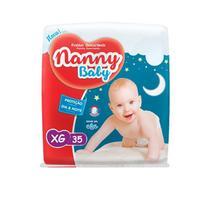Kit com 2 fralda nanny baby descartável infantil xg atacado -