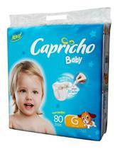 Kit Com 2 Fraldas Capricho Baby Mega G Atacado Com 160 Unid. -