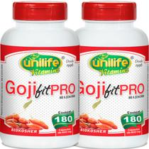 Kit com 2 Frascos de Goji Fit Pro Unilife 180 Capsulas 600mg