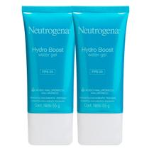 kit com 2 Gel Hidratante Facial Neutrogena Hydro Boost Water FPS 25 55g -