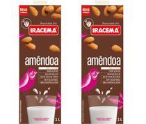 Kit com 2 Leite de Amêndoa 1L Iracema - Bebida Vegetal -