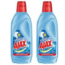 Kit com 2 Limpador Diluível Ajax Fresh Blue 500ml Cada -