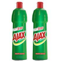 Kit Com 2 Limpador Diluível Ajax Multiuso Eucalipto + Maçã Verde 500ml Cada -