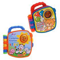 Kit com 2 Livrinhos Aprender e Brincar - Cores e Formas e Contando com Animais - Fisher-Price - Fisher Price
