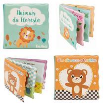 Kit com 2 Livros Educativos Macios para Banho - Buba -