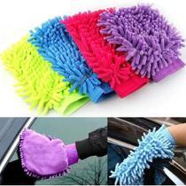 Kit Com 2 Luvas Para Lavar Carro Limpeza Geral Microfibra Cores Sortidas - Wincy