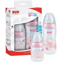Kit Com 2 Mamadeiras Da Criança Nuk Fc 150ml E 300ml -