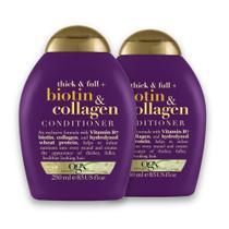Kit com 2 OGX Shampoo Biotin & Collagen 250ml -
