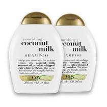 Kit com 2 OGX Shampoo Coconut Milk 250ml -