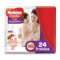 Kit com 2 Pacotes Fraldas Huggies Turma Da Monica Supreme Care Roupinha Mega Xg - 24 Unidades -