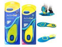 Kit com 2 Palmilha De Gel Esportiva Anti-impacto Corrida - Activ-Gel
