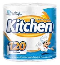 Kit com 2 Papel Toalha Kitchen 120 Toalhas -