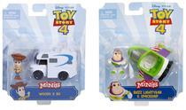 Kit com 2 Pixar Minis Toy Story 4 - Veículo + Boneco - Mattel -