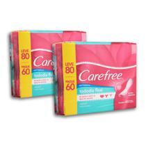 Kit com 2 Protetores Diário CAREFREE Todo Dia Flexi sem Perfume Leve 80 pague 60 -