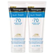 Kit com 2 Protetores Solar Neutrogena Sun Fresh Corpo FPS 70 200ml. -