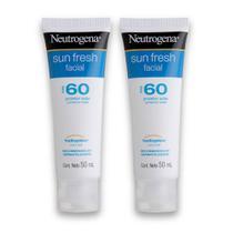 Kit com 2 Protetores Solar NEUTROGENA Sun Fresh Facial FPS 60 50g -