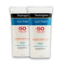 Kit com 2 Protetores Solar NEUTROGENA Sun Fresh FPS 50 120ml - Neutrogena