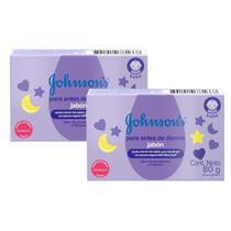 Kit com 2 Sabonetes Barra Hora do Sono Johnson's Baby 80g -