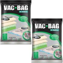 Kit com 2 Sacos À Vácuo VAC BAG Ordene EXTRA Grande 80X100 Edredom -