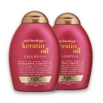 Kit com 2 Shampoo OGX Keratin Oil 385ml -