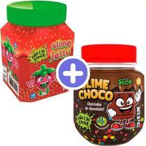 Kit Com 2 Slime Jelly Geléia De Morango E Slime Choco Dtc -