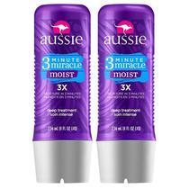 Kit com 2 Tratamentos Aussie Moist 3 Minutos Miraculosos 236ml -
