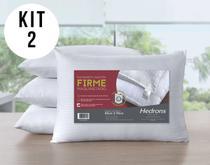 Kit Com 2 Travesseiros Suporte Firme 300 Fios Toque de Seda - Hedrons
