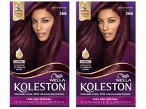 Kit com 2 Unidades Tinta de Cabelo Koleston - 366 Acaju Púrpura