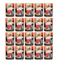 Kit com 20 - Alimento úmido Sheba Cortes Selecionados Carne ao Molho para Gatos Filhotes - Mars (85g) -