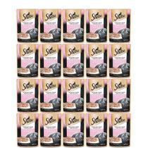 Kit com 20 - Alimento úmido Sheba Cortes Selecionados Salmão ao Molho para Gatos Adultos - Mars (85g) -