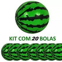 Kit com 20 Bolas Vinil modelo Melancia para Festas e Decorações 23cm - Casa e costura