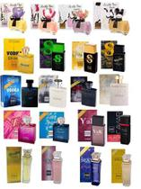 Kit Com 20 Perfumes Paris Elysees 100 Ml Originais Lacrados