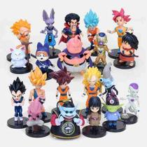 Kit Com 20 Personagens Dragon Ball Bonecos Miniaturas Goku