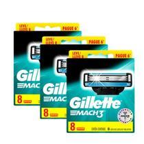 Kit com 24 Cargas Gillette Mach3 Leve 8 Pague 6 -