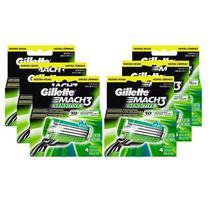 Kit com 24 Cargas Gillette Mach3 Sensitive -
