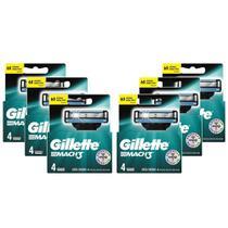 Kit com 24 Cargas Gillette Mach3 -