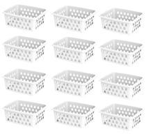 Kit Com 24 Cestos Organizadores Multiuso Médio Uninjet -