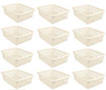 Kit Com 24 Cestos Organizadores Multiuso Pequeno Uninjet -