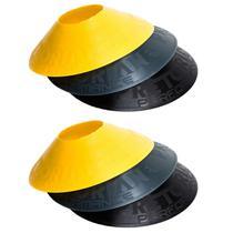 Kit com 24 Half Cones Chapéu Chinês para Treino de Agilidade Pretorian Performance HC-PP -